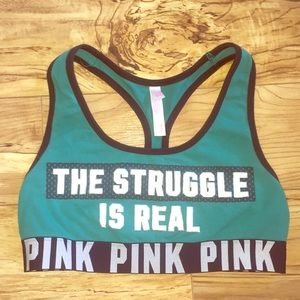 PINK by VS sports bra size M the struggle is real